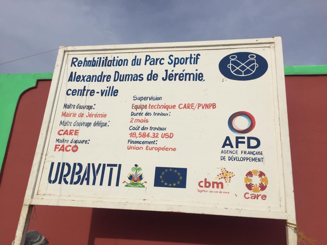 Réhabilitation du mini stadium de Jérémie