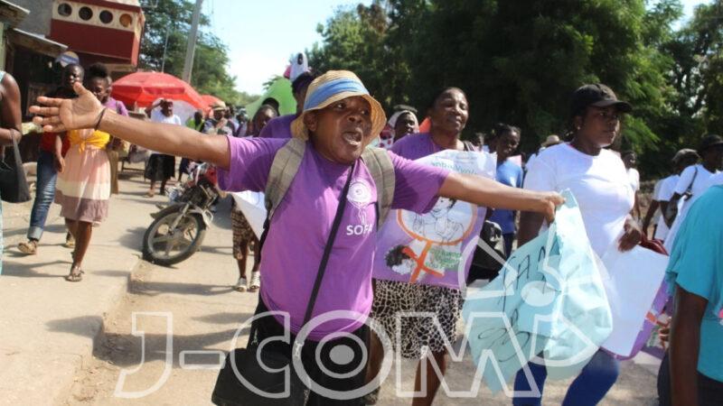 Jérémie : Marche pour briser la « chaîne du silence » des violences faites aux femmes